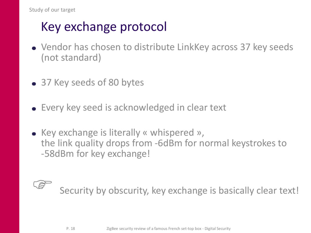 Key exchange protocol Vendor has chosen to dist...