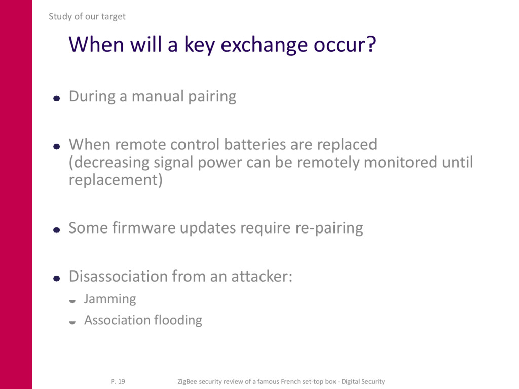 When will a key exchange occur? During a manual...