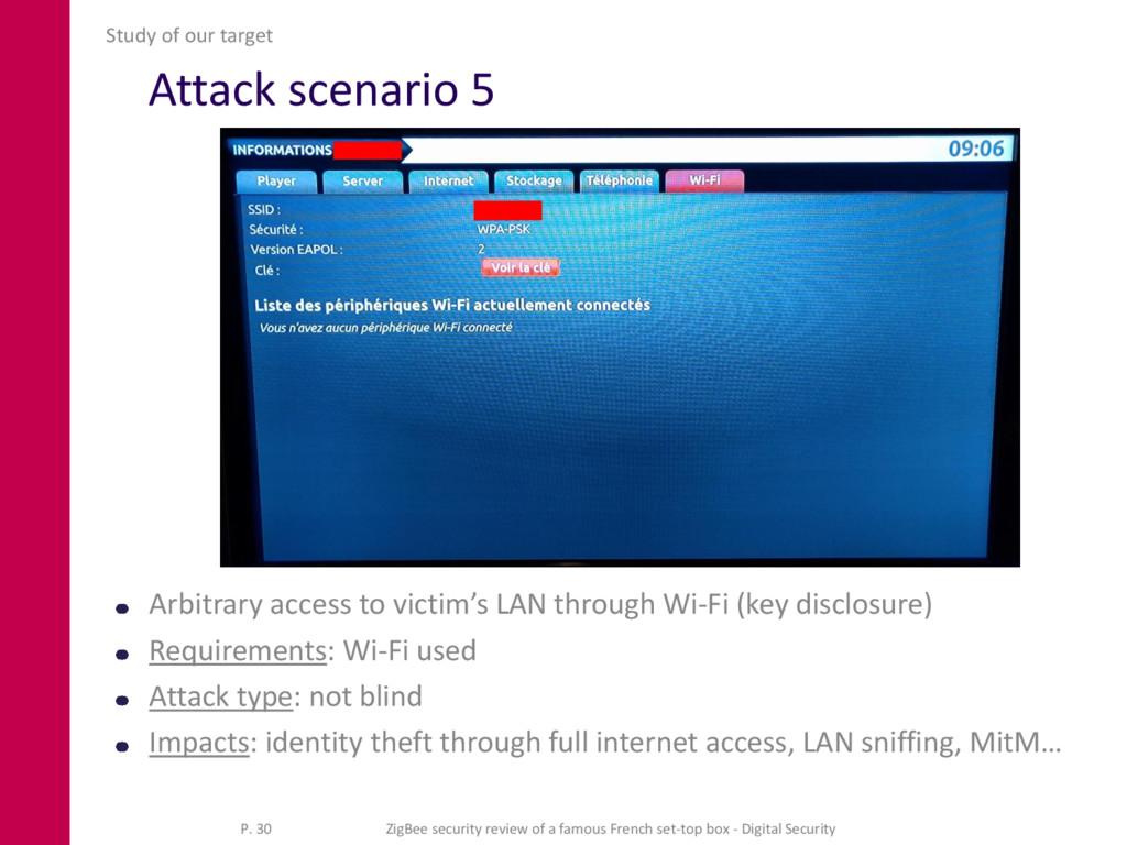 Attack scenario 5 Arbitrary access to victim's ...