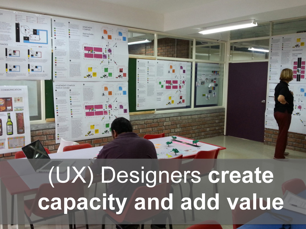 (UX) Designers create capacity and add value