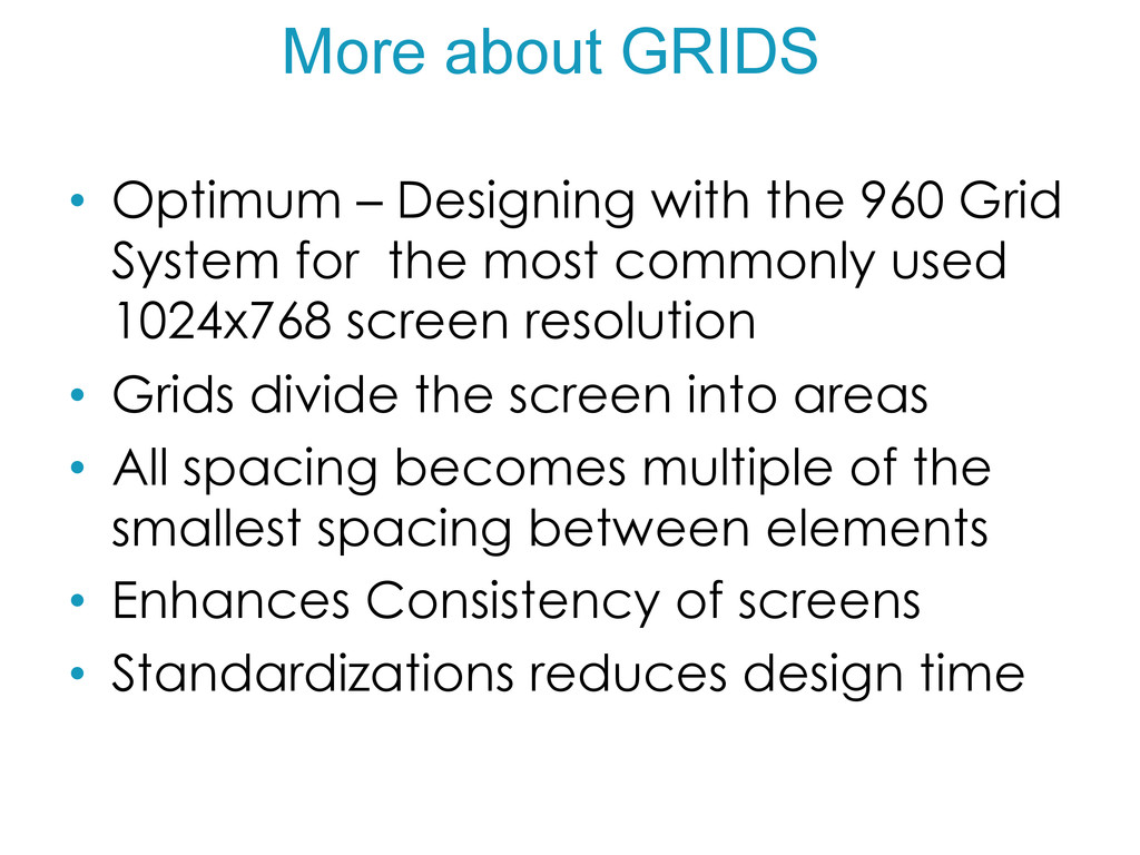 More about GRIDS • Optimum – Designing with th...