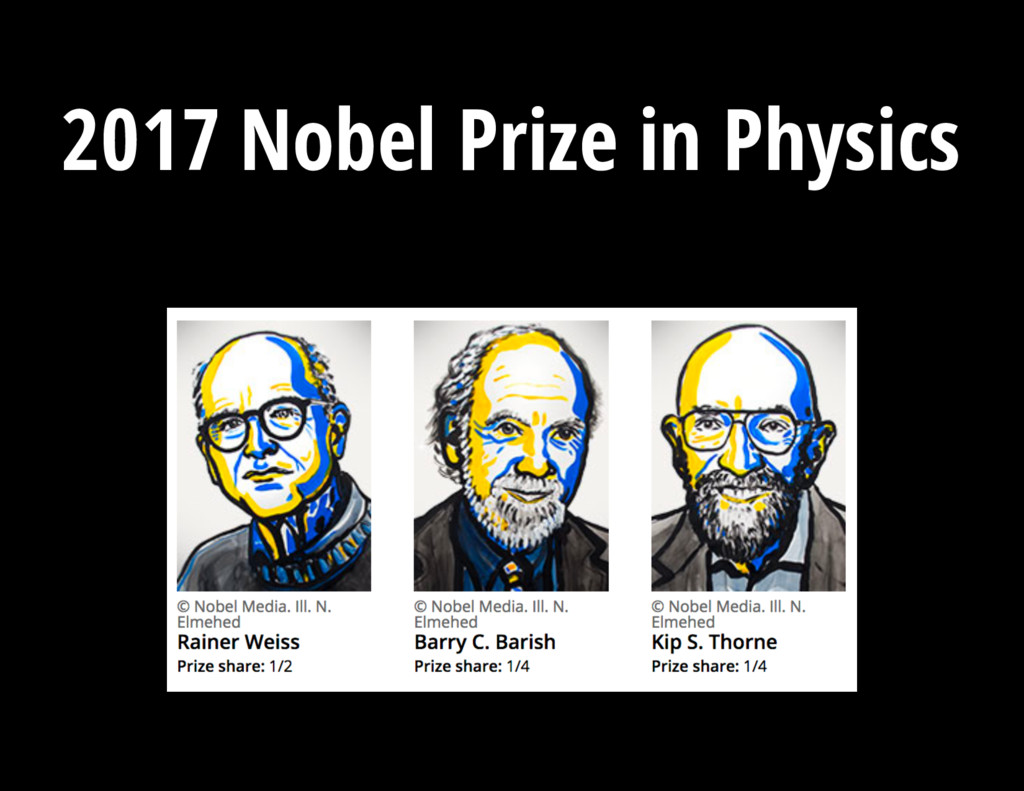 V = 13.3 mag 2017 Nobel Prize in Physics