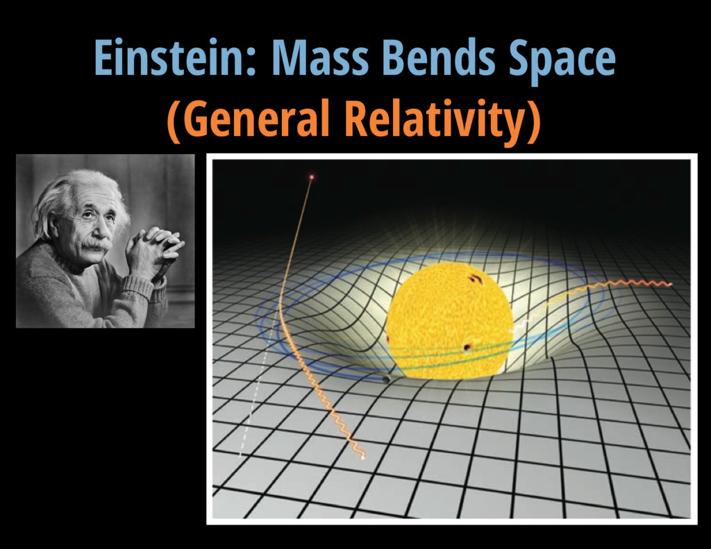 V = 13.3 mag Einstein: Mass Bends Space (Genera...