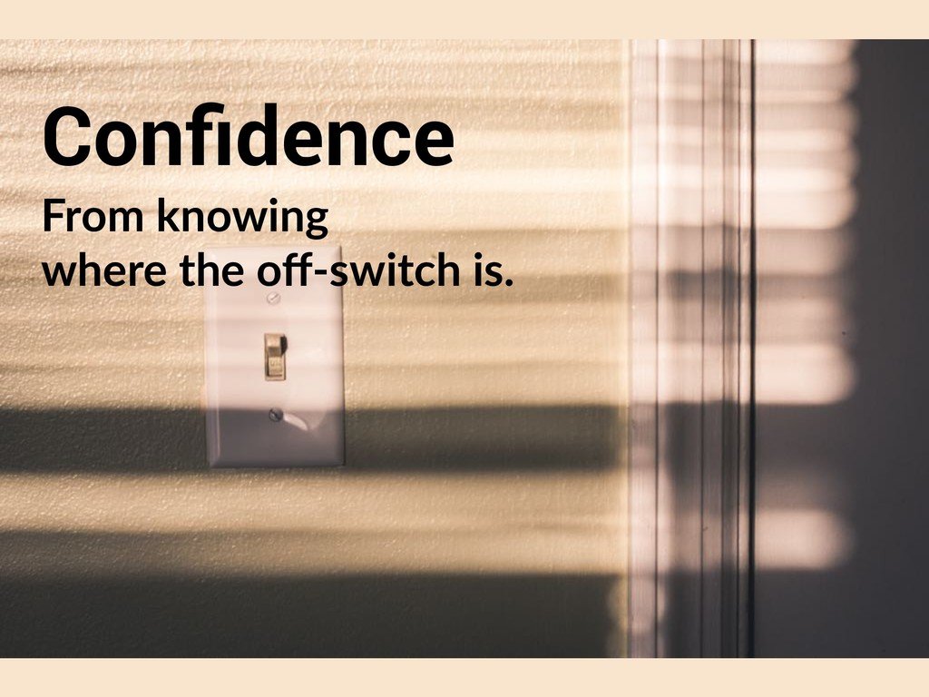Confidence From knowing 