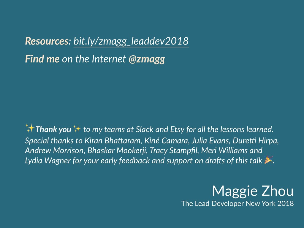 Maggie Zhou The Lead Developer New York 2018 Re...