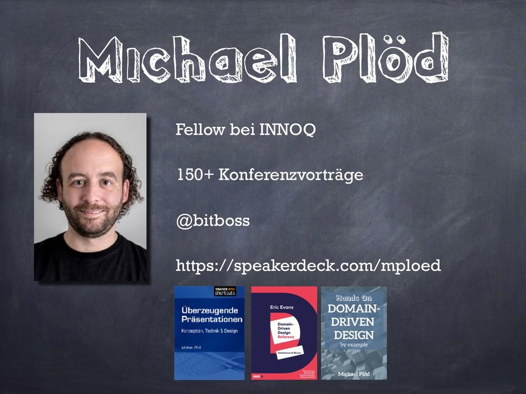 Michael Plöd Fellow bei INNOQ 150+ Konferenzvor...