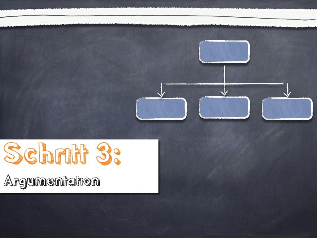 Schritt 3: Argumentation