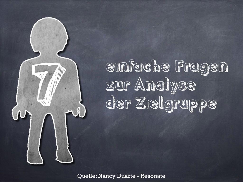 einfache Fragen zur Analyse der Zielgruppe 7 Qu...