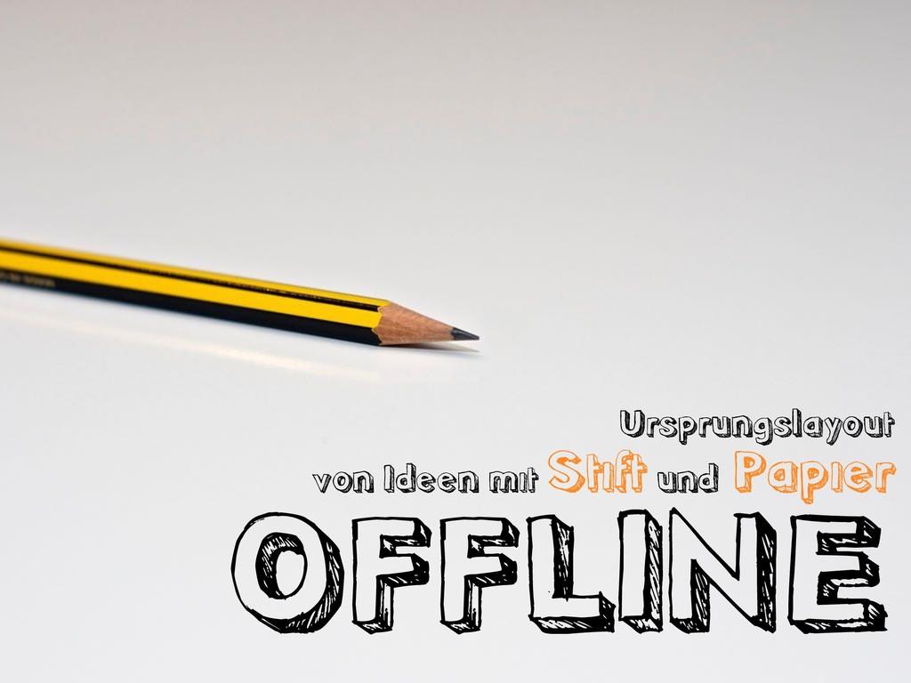 Ursprungslayout von Ideen mit Stift und Papier ...