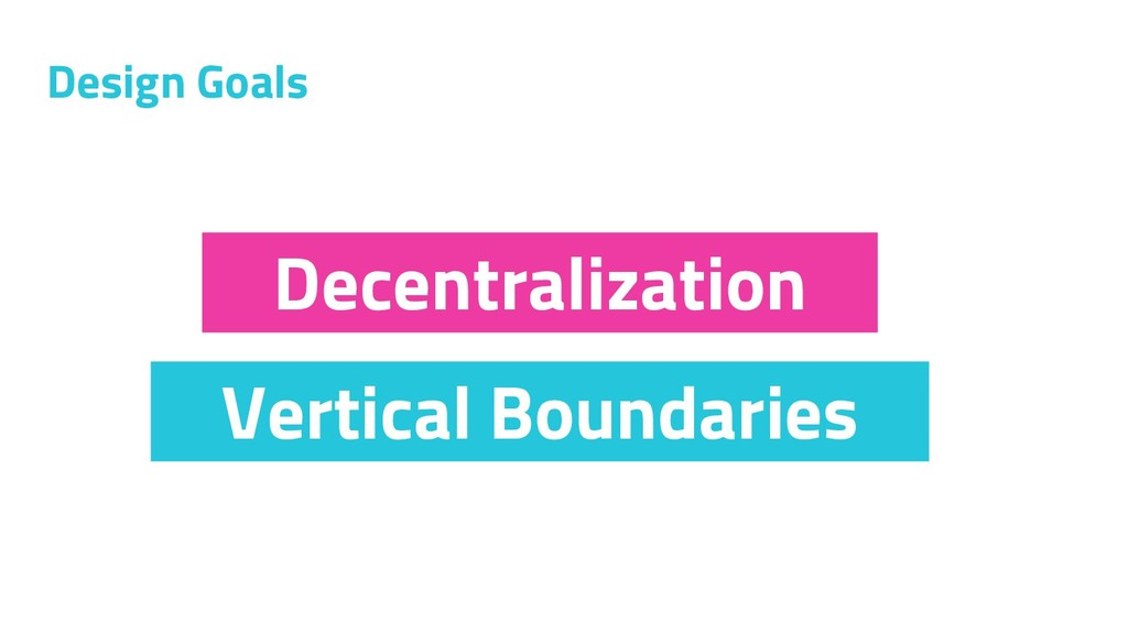 Design Goals Vertical Boundaries Decentralizati...