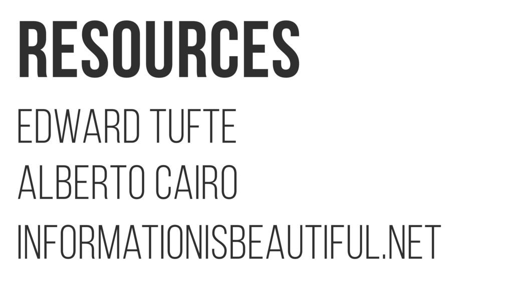 Resources Edward Tufte Alberto Cairo informatio...