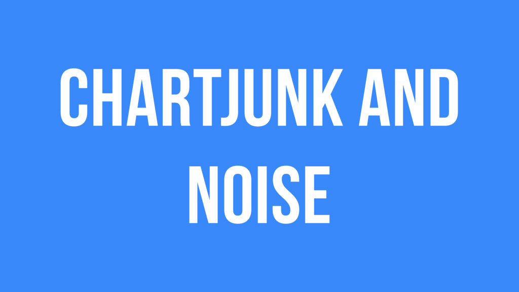 ChartJunk and Noise