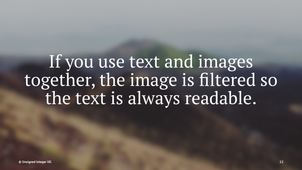 If you use text and images together, the image ...