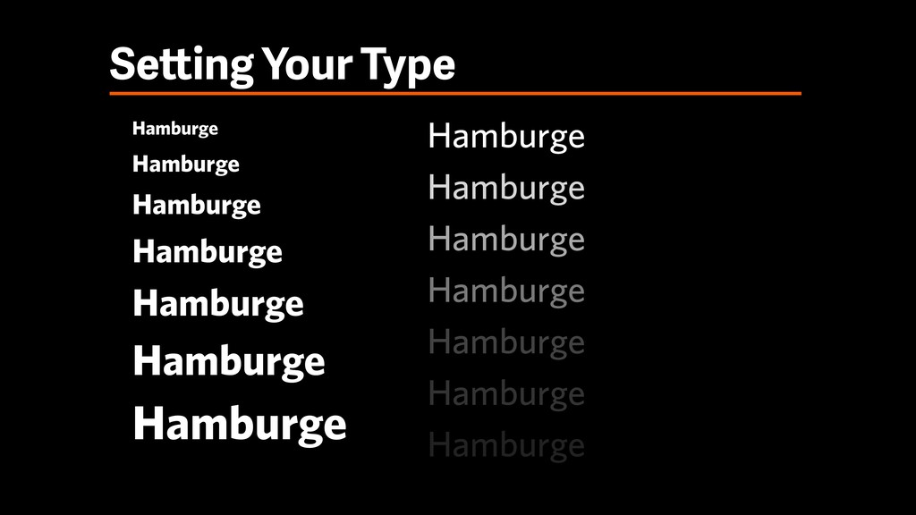 Setting Your Type Hamburge Hamburge Hamburge Ha...