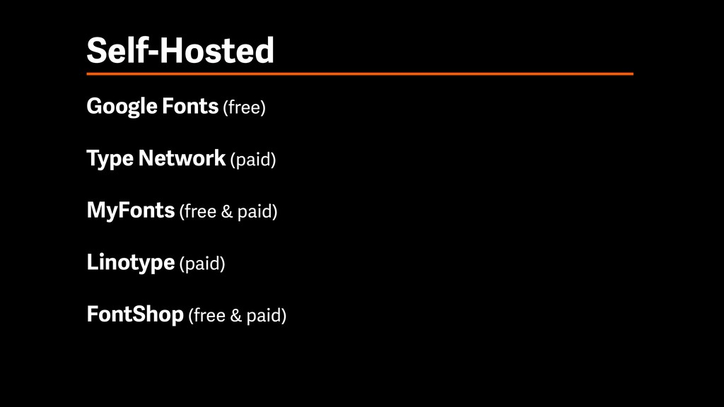 Self-Hosted Google Fonts (free) Type Network (p...