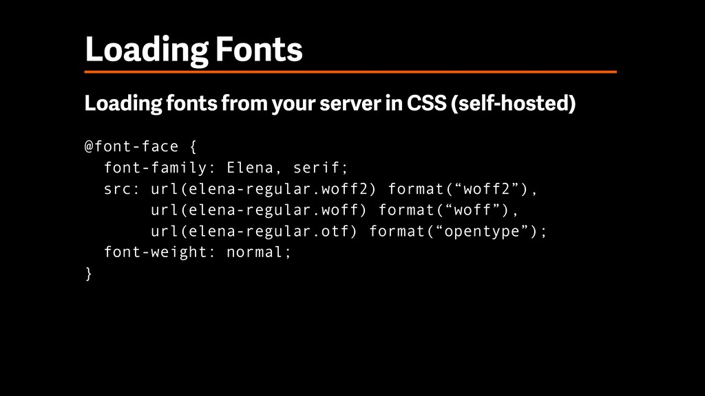 Loading Fonts Loading fonts from your server in...