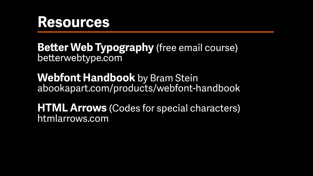 Resources Better Web Typography (free email cou...