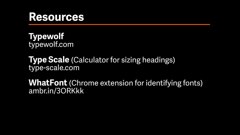 Resources Typewolf