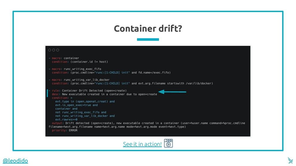 Container drift? See it in action! @leodido