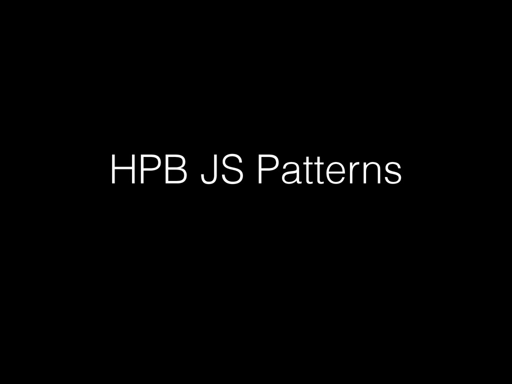 HPB JS Patterns