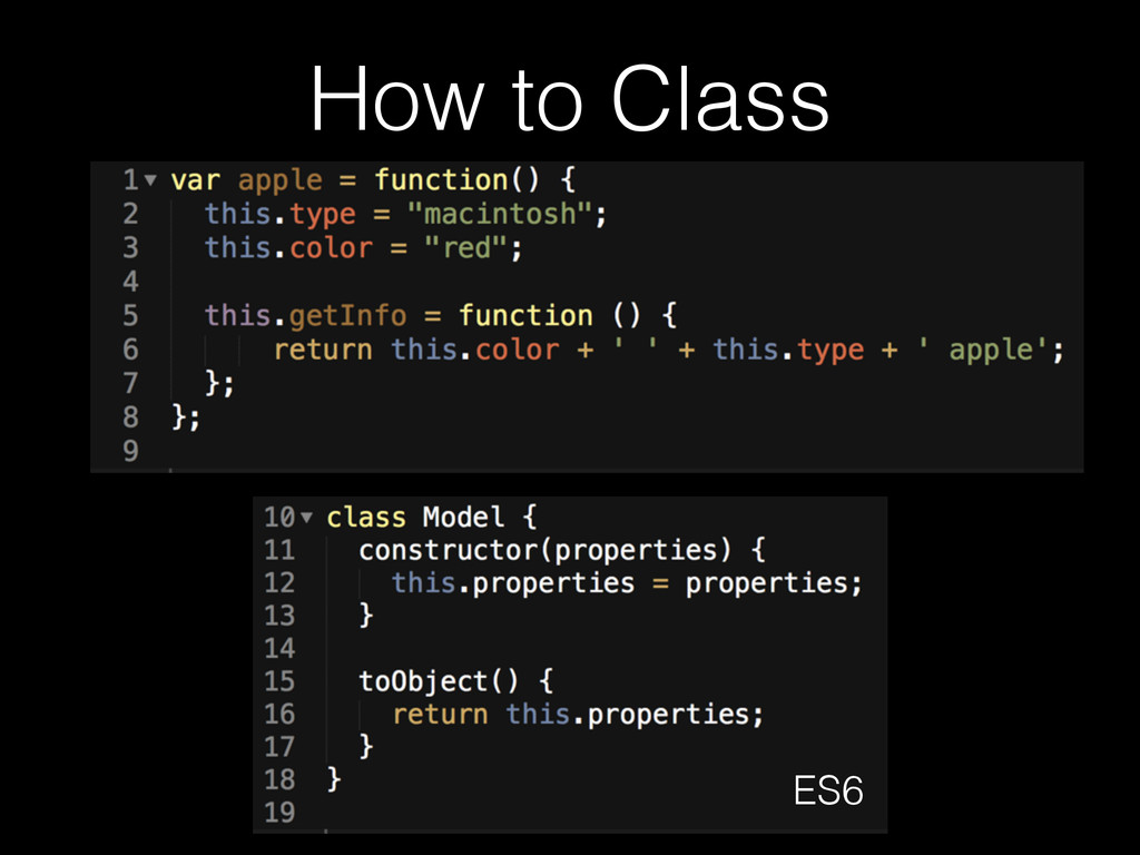 How to Class ES6