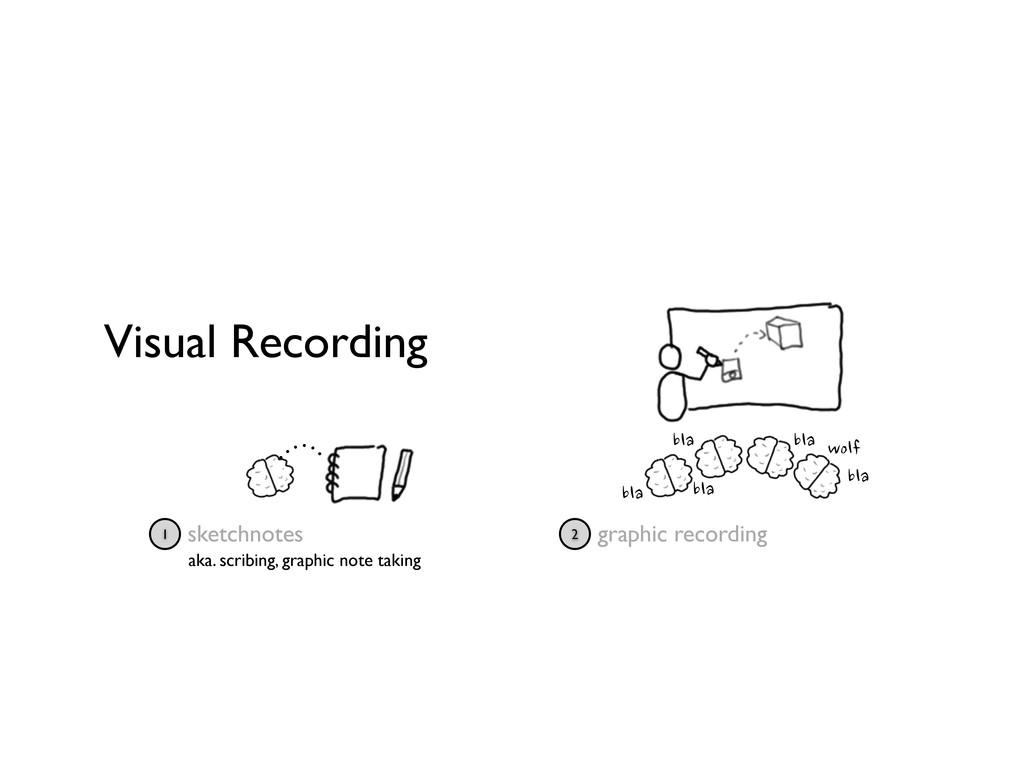 Visual Recording sketchnotes 1 bla bla bla bla ...