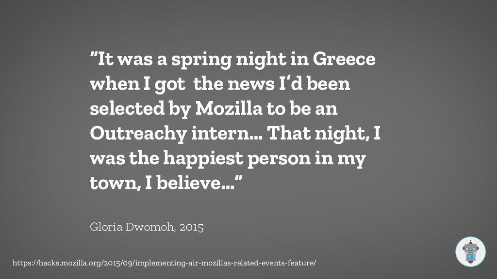 """""""It was a spring night in Greece when I got the..."""