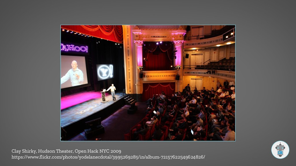Clay Shirky, Hudson Theater, Open Hack NYC 2009...