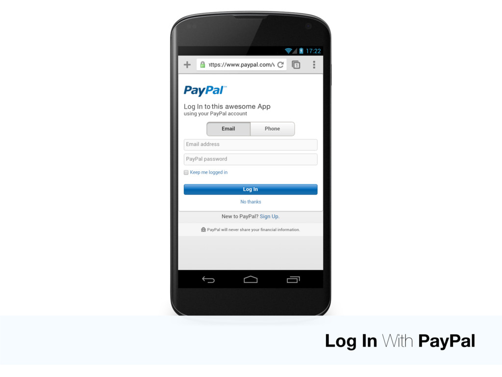 Log In With PayPal