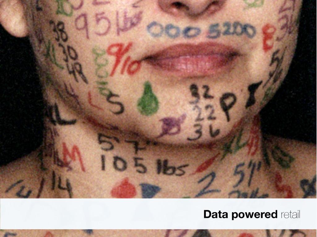 Data powered retail