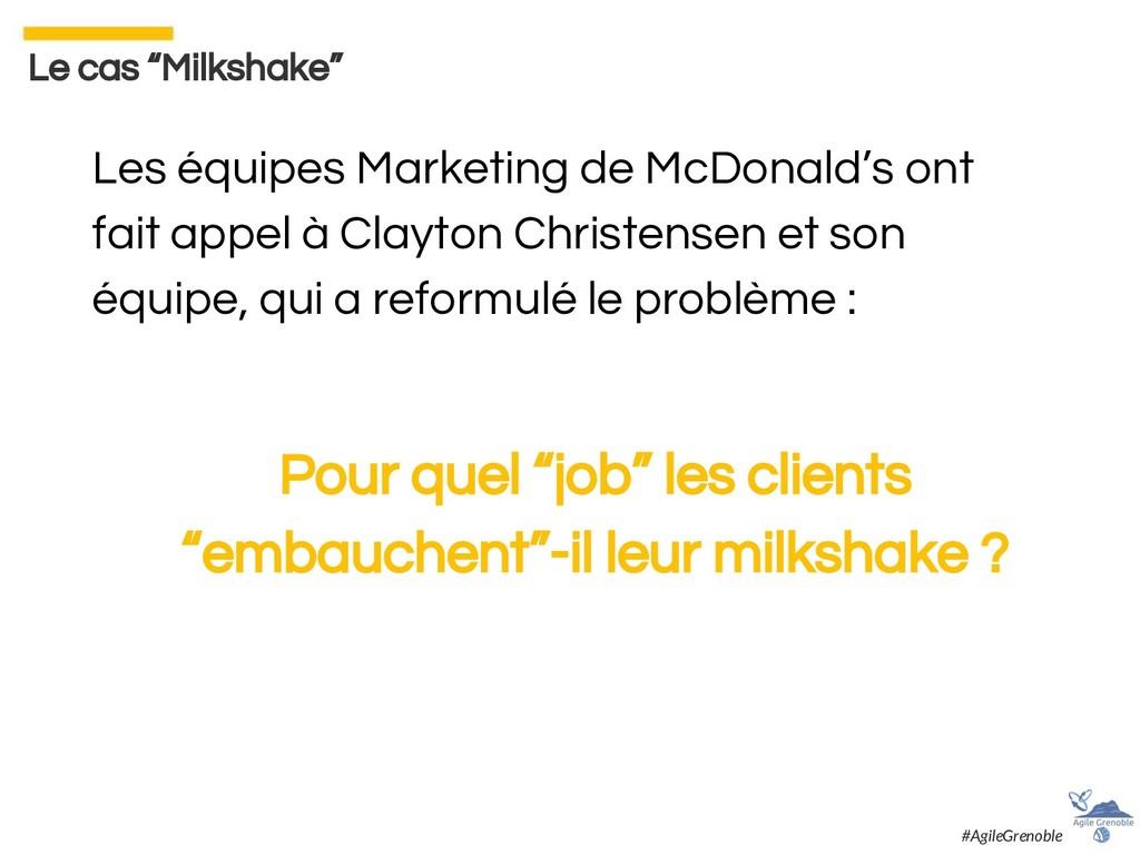 Les équipes Marketing de McDonald's ont fait ap...