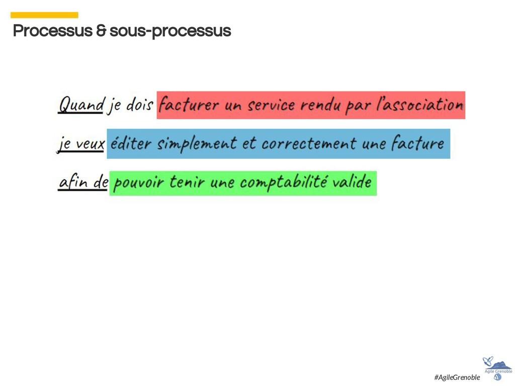 Processus & sous-processus #AgileGrenoble