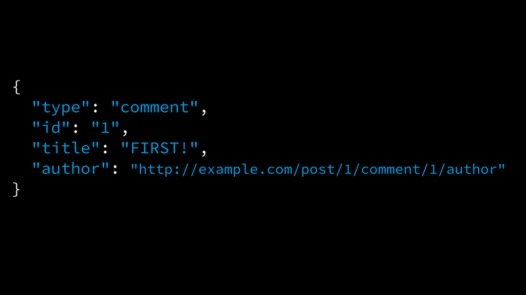 """{ """"type"""": """"comment"""", """"id"""": """"1"""", """"title"""": """"FIRST..."""