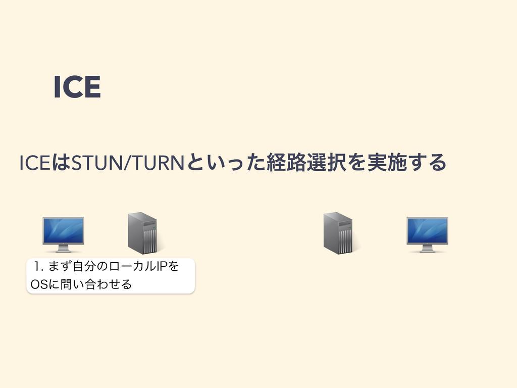 ICE ICESTUN/TURNͱ͍ͬͨܦ࿏બΛ࣮ࢪ͢Δ ·ͣࣗͷϩʔΧϧ*1Λ ...
