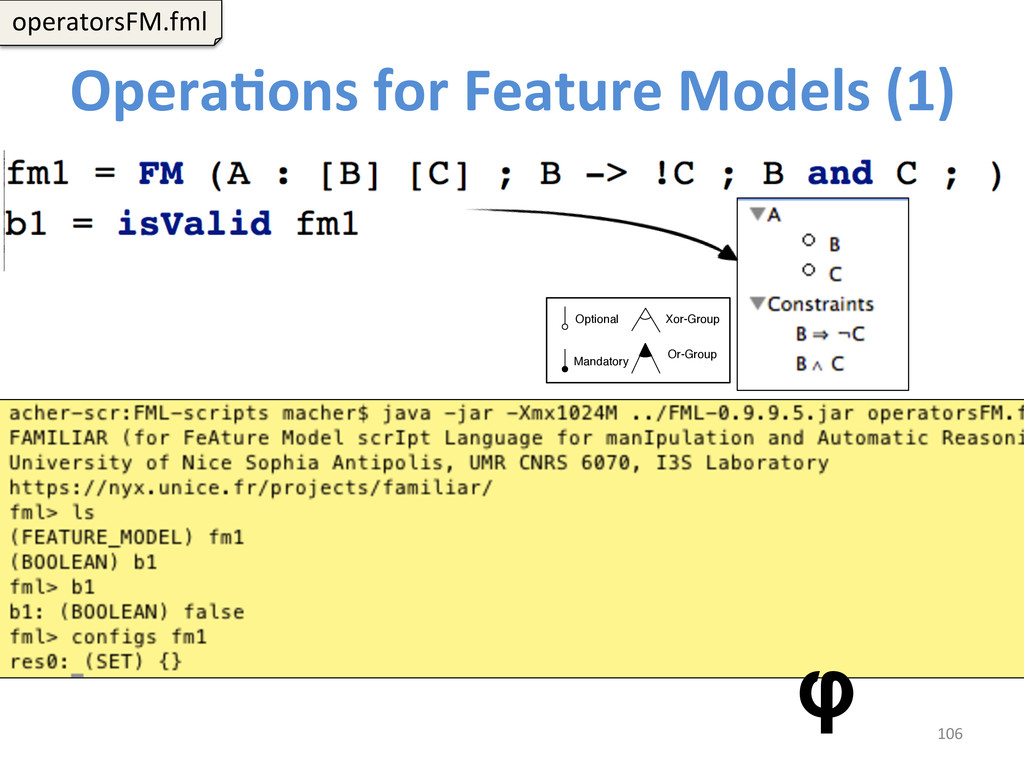 OperaCons for Feature Models (1) ...