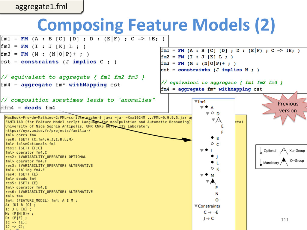 Composing Feature Models (2)  111...