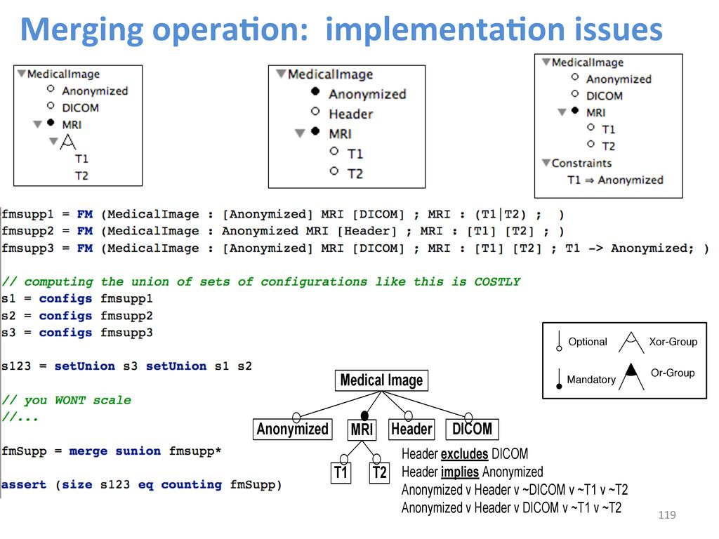 Merging operaCon:  implementaCon is...