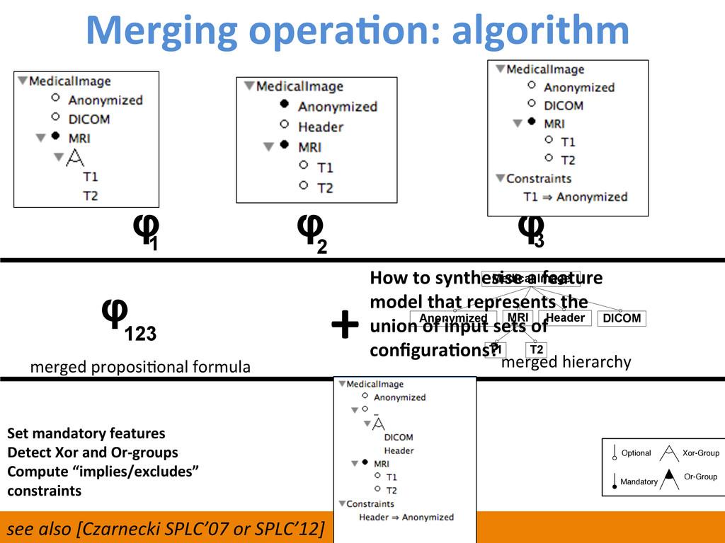 Merging operaCon: algorithm  121  φ...