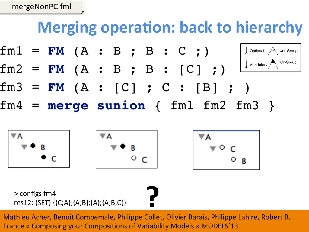 Merging operaCon: back to hierarchy...