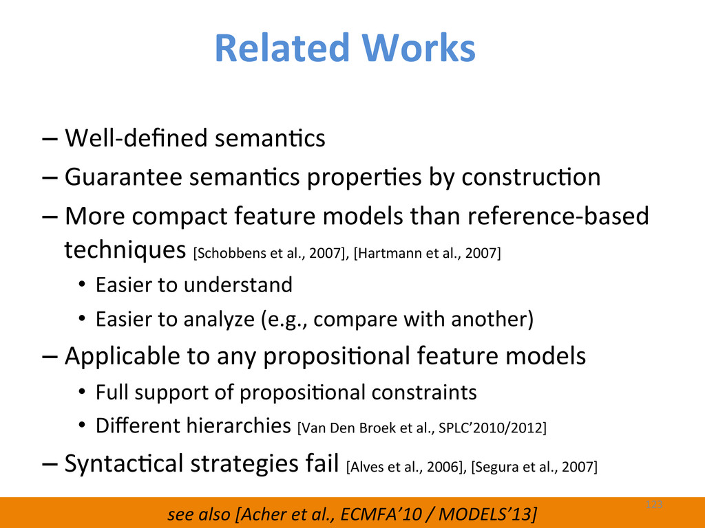 see also [Acher et al., ECMFA'10...