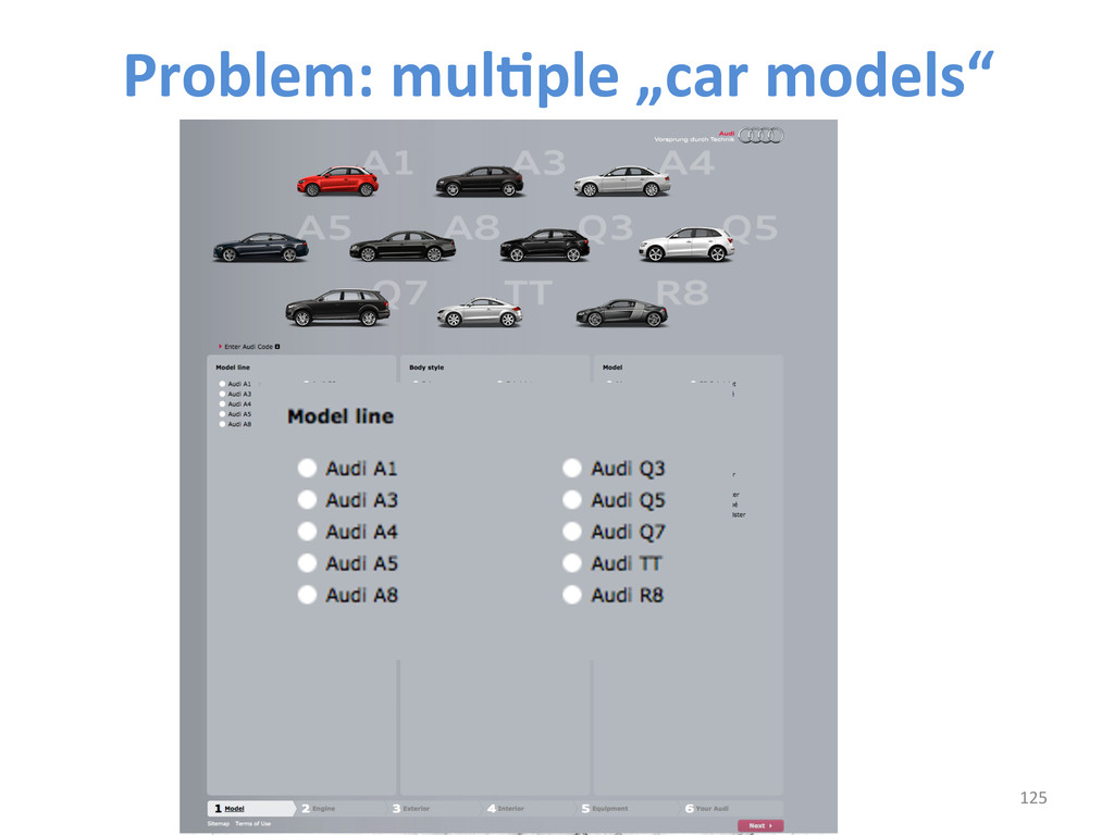 "125  Problem: mulCple ""car models""..."