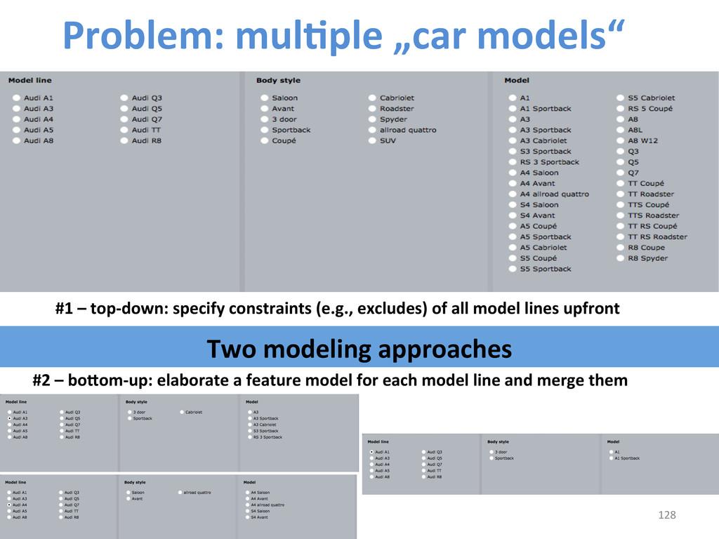"128  Problem: mulCple ""car models""..."