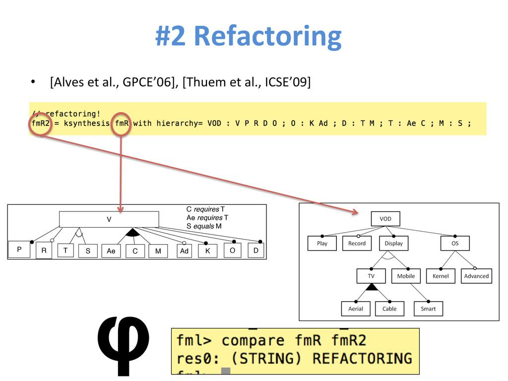 #2 Refactoring  • [Alves et al.,...