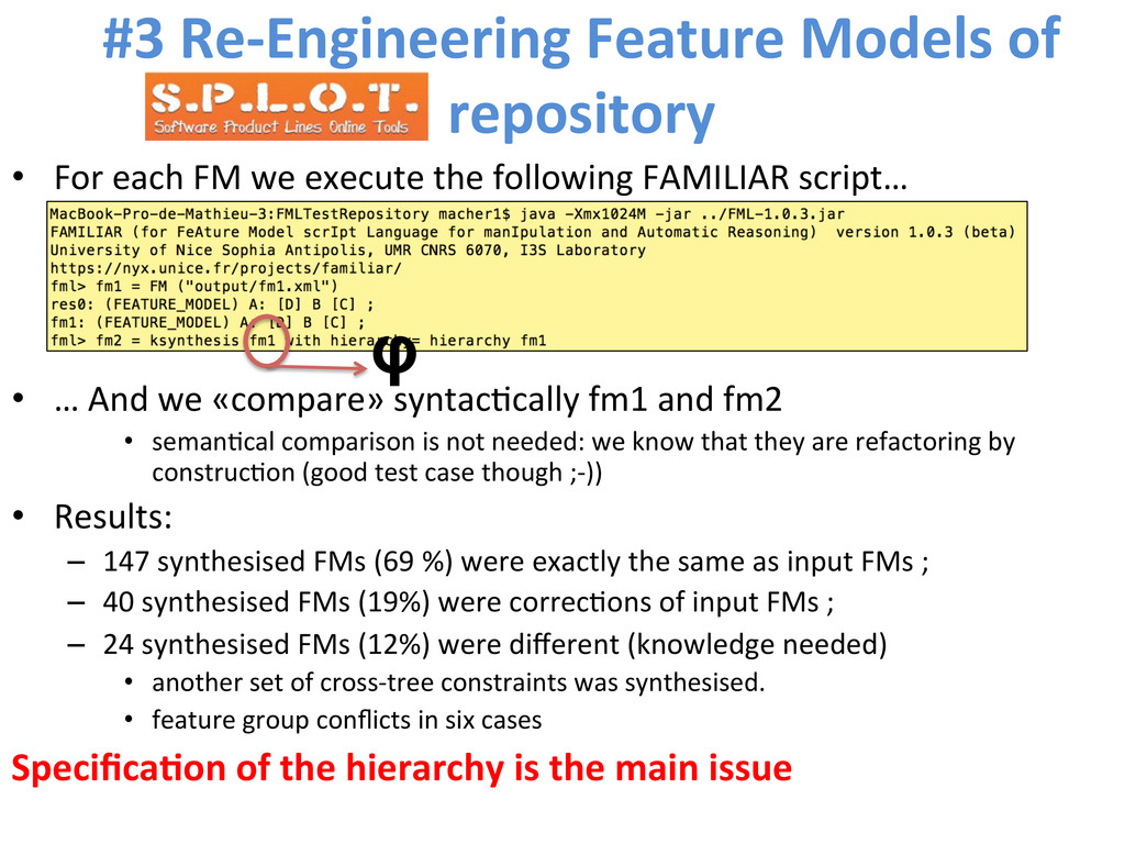 #3 Re-‐Engineering Feature Models ...