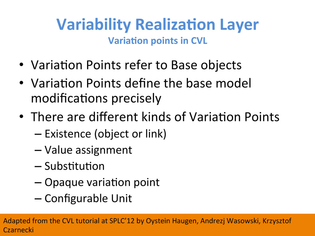 Variability RealizaCon Layer  VariaCon...