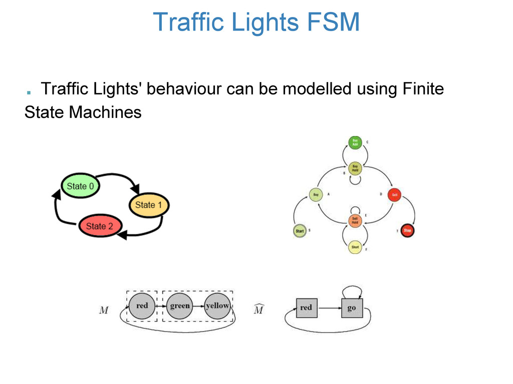 . Traffic Lights' behaviour can be modelled usi...