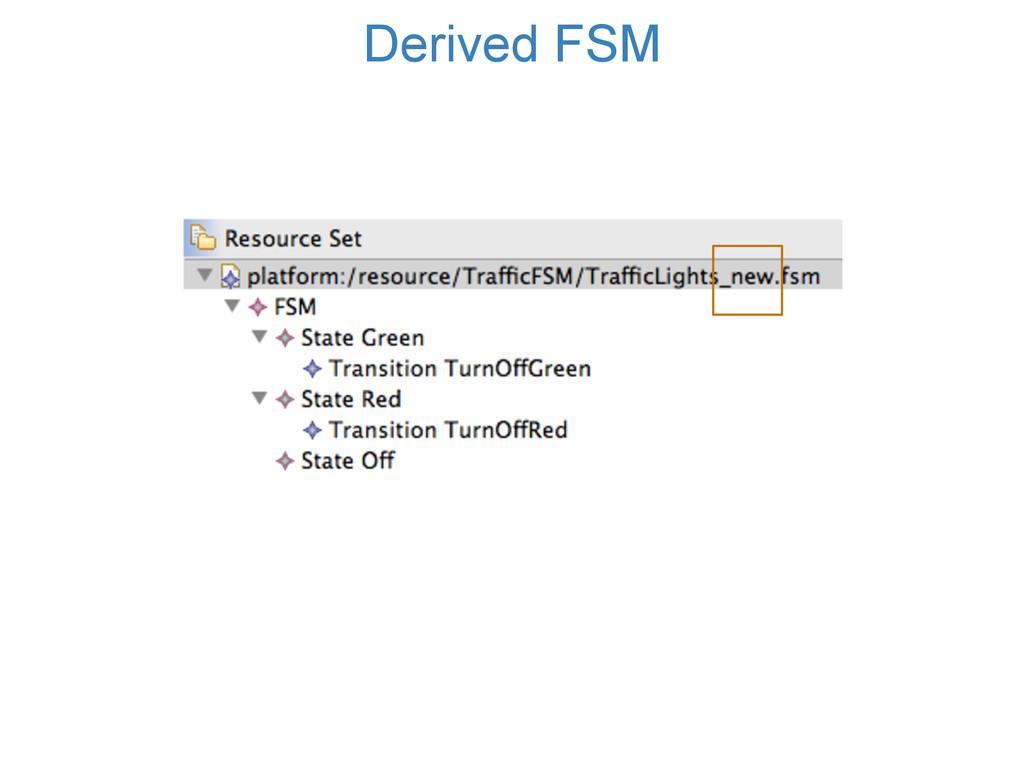 Derived FSM