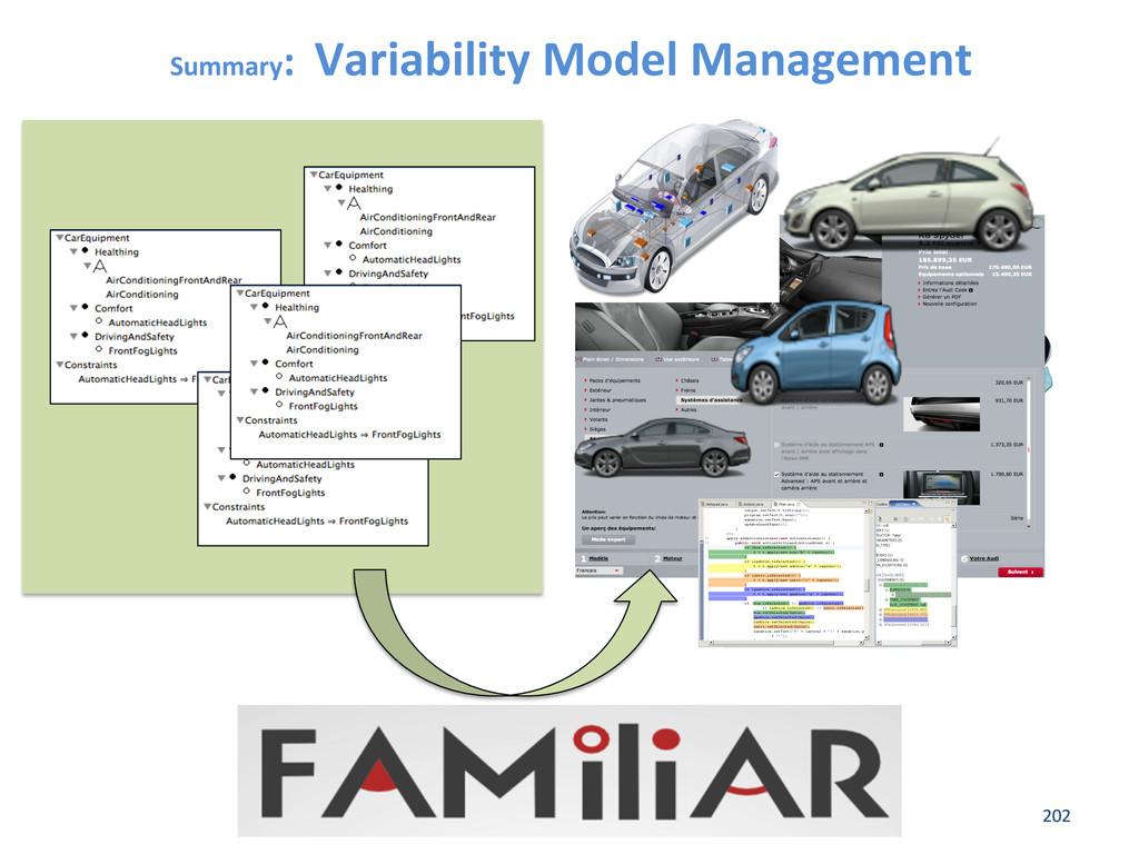 Summary:  Variability Model Management...