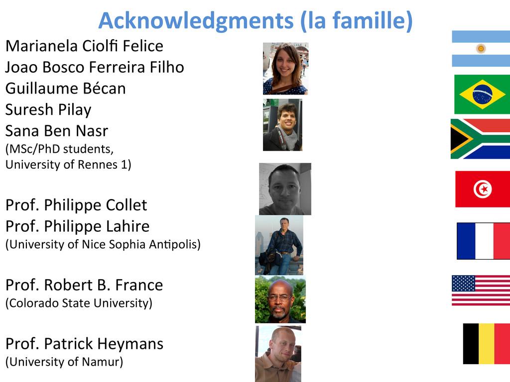 Acknowledgments (la famille)  Marianel...