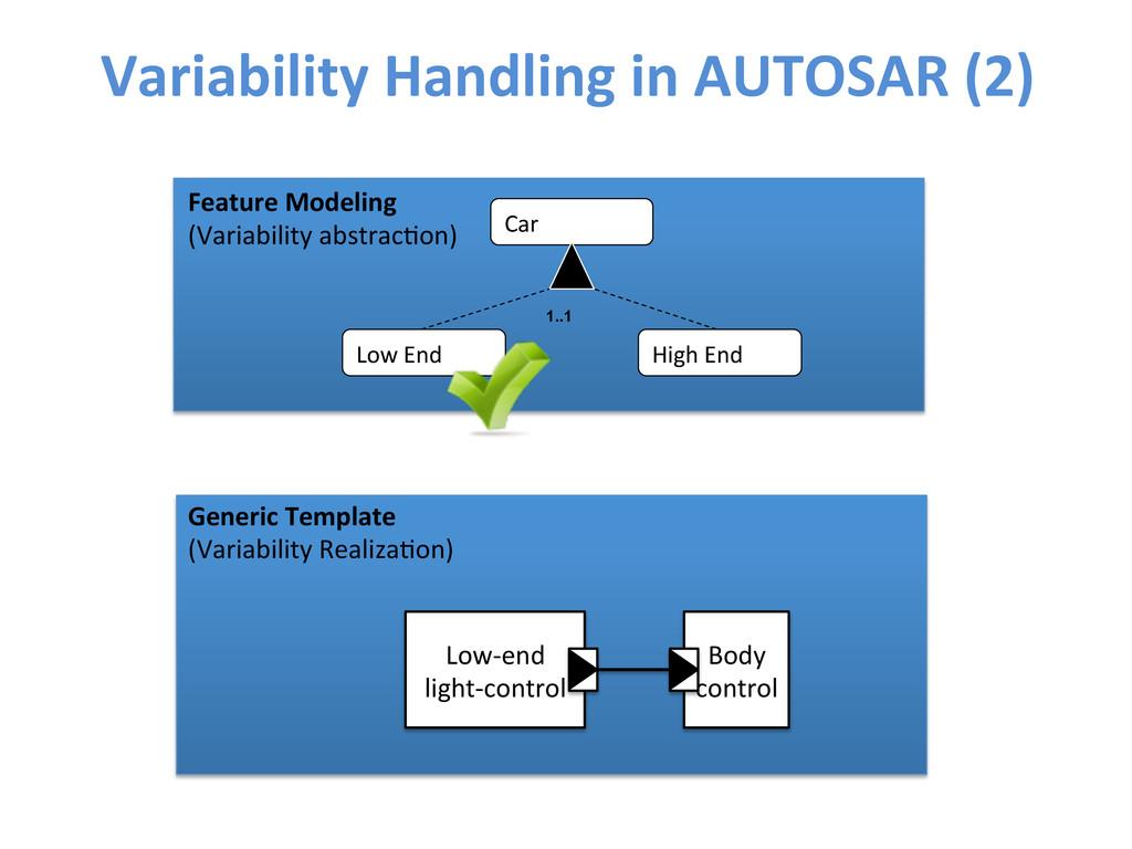 Variability Handling in AUTOSAR (2)...